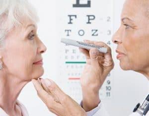 senior eye examination